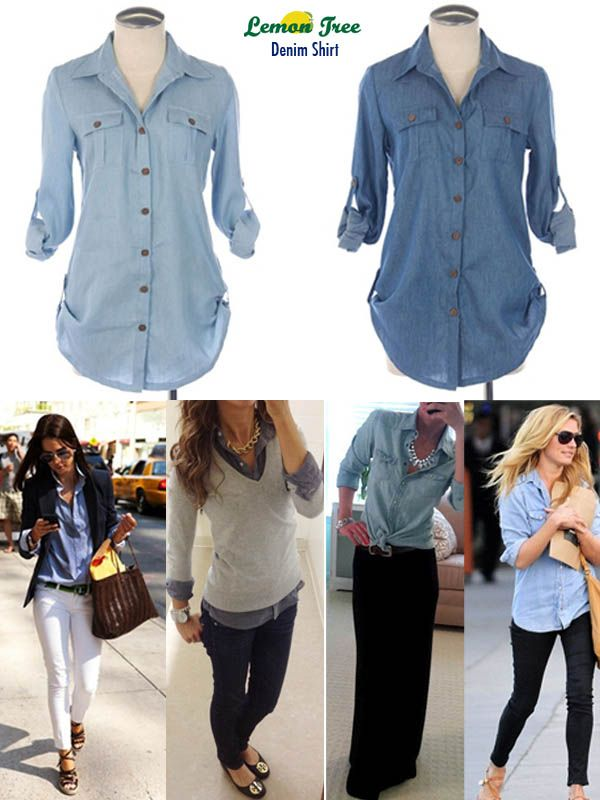 How To Wear Denim Blouse