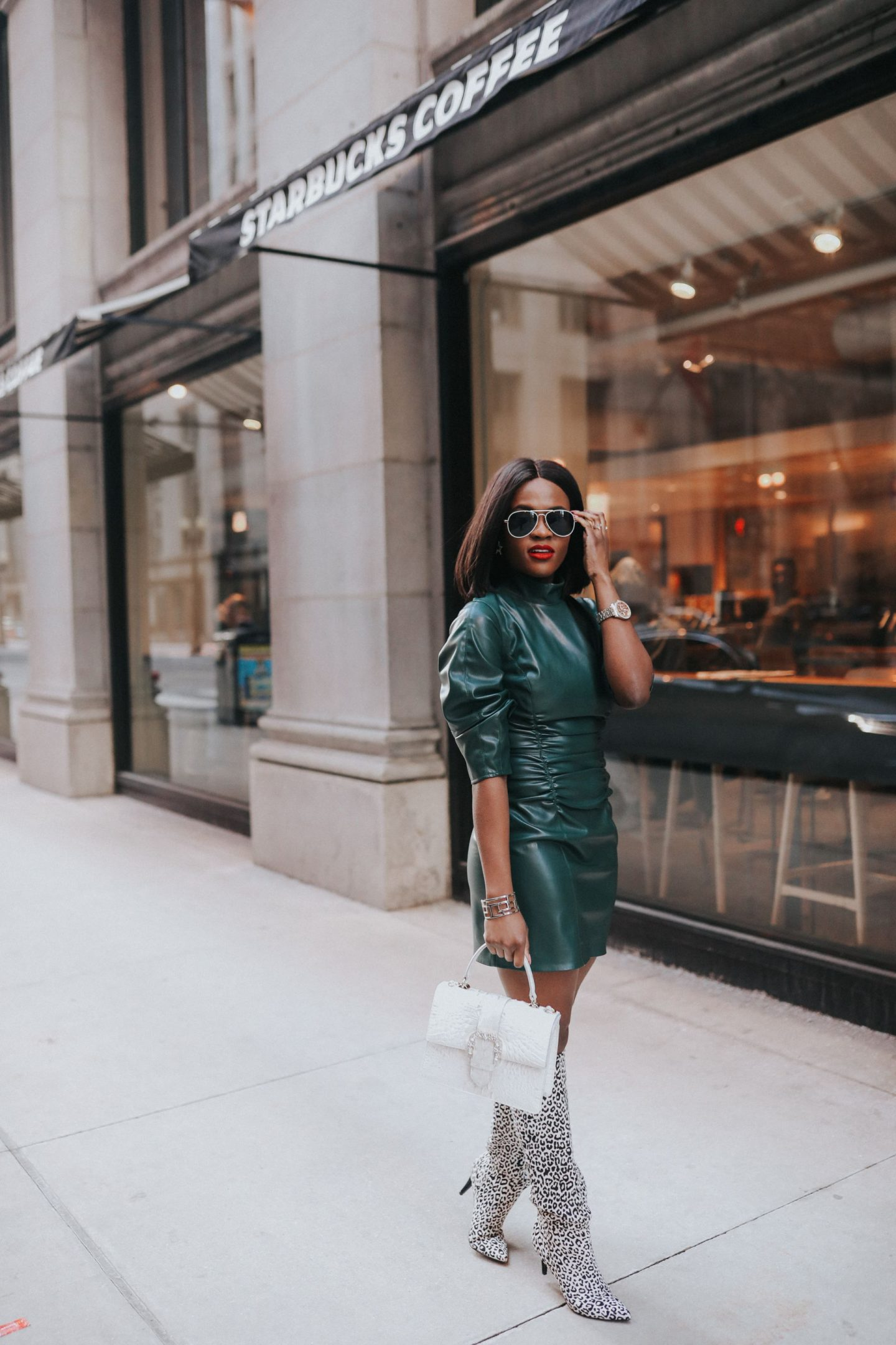 How To Wear Faux Leather Dress