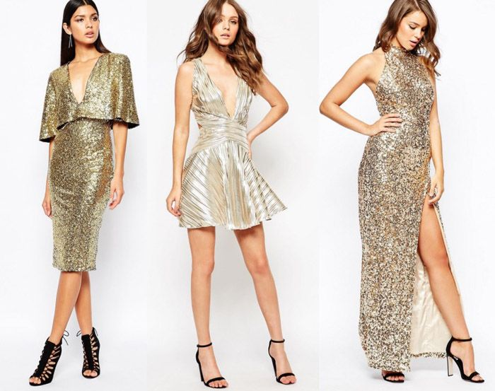 How To Wear Gold Evening Shoes