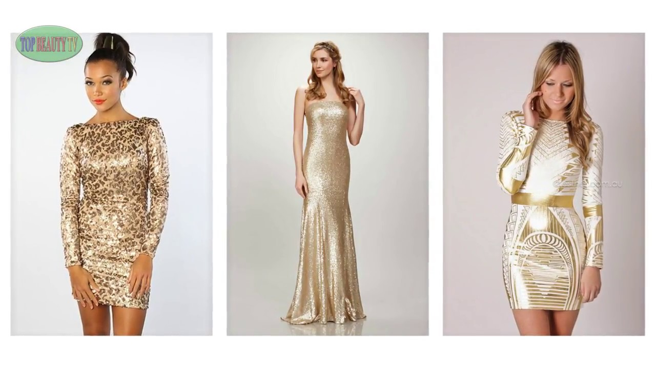 How To Wear Gold Sequin Dress