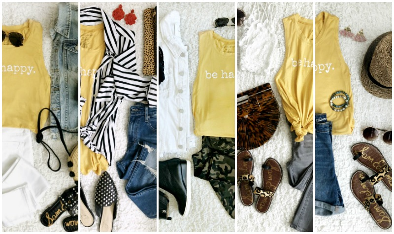 How To Wear Graphic Tank Top