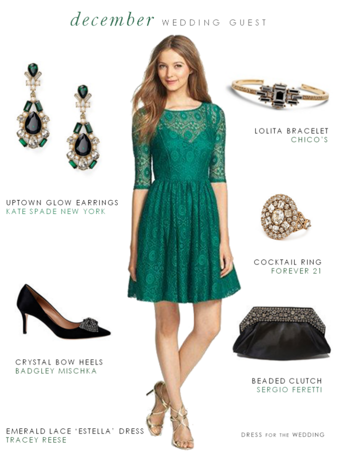 How To Wear Green Cocktail Dress