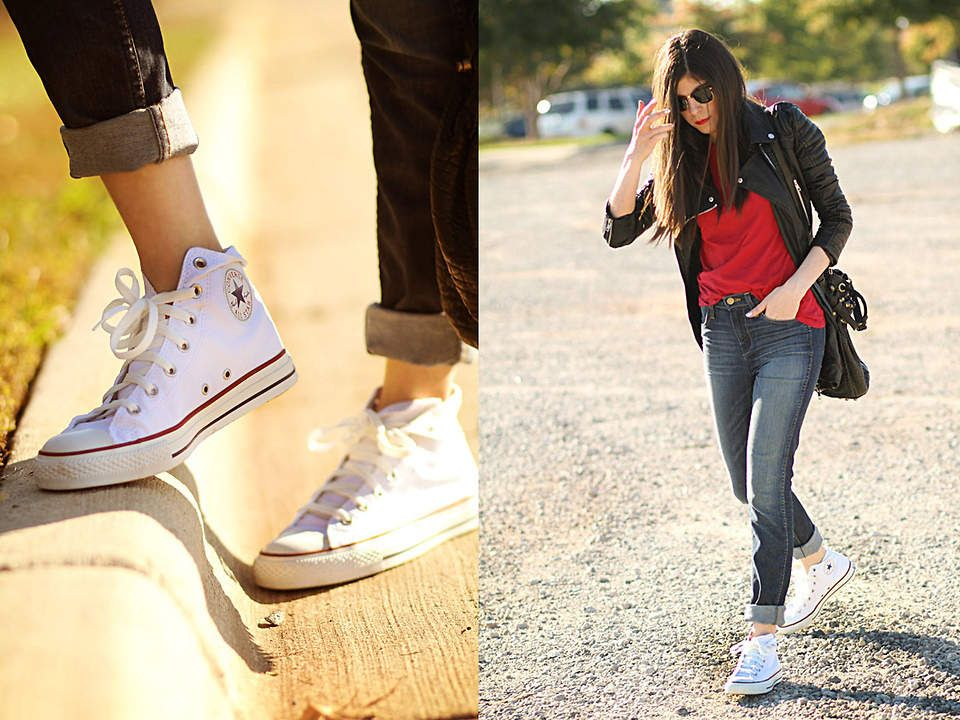 How To Wear High Top Converse