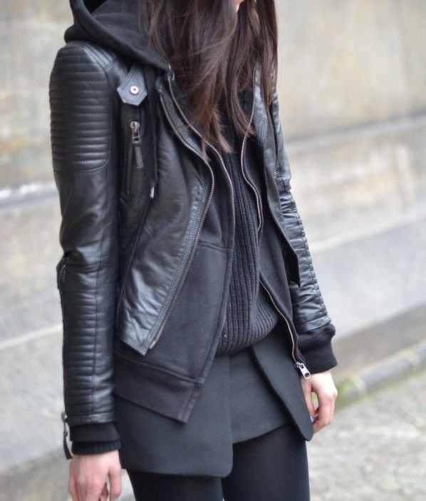 How To Wear Hooded Leather Jacket
