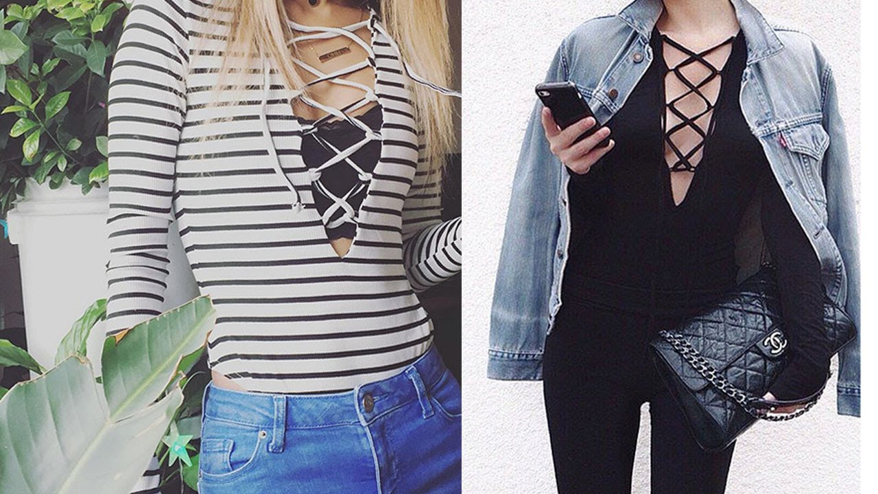 How To Wear Lace Up Shirt