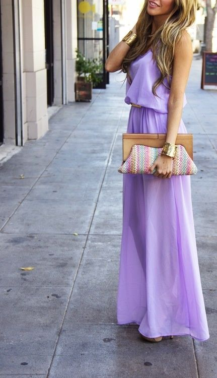 How To Wear Lavender Maxi Dress
