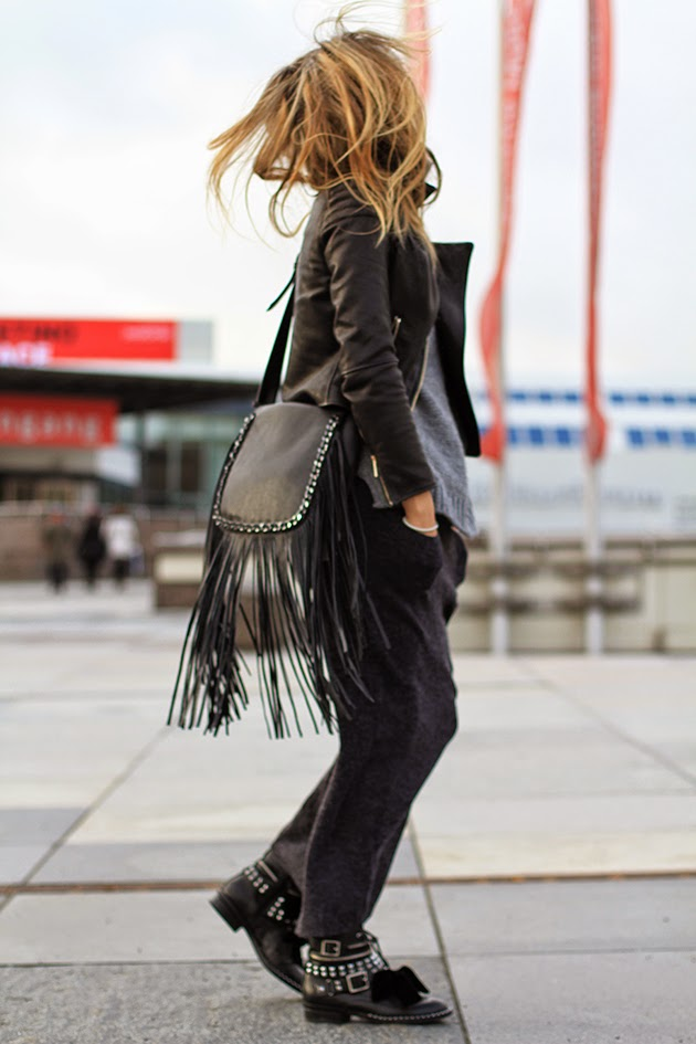 How To Wear Leather Fringe Purse
