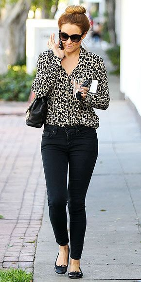 How To Wear Leopard Print Blouse