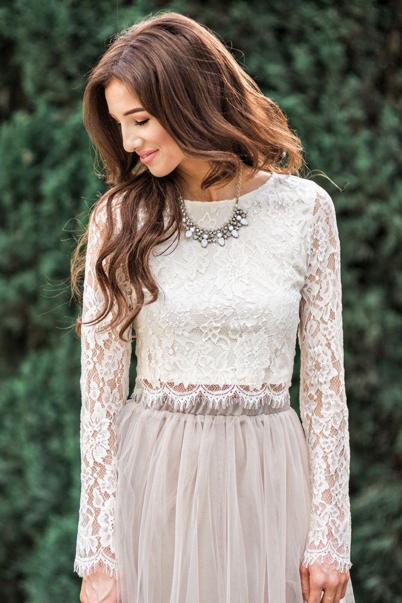 How To Wear Long Sleeve Lace Top