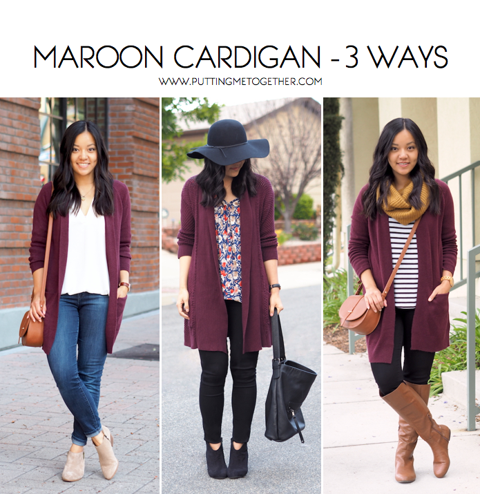 How To Wear Maroon Sweater