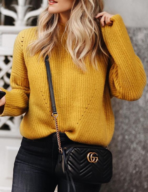 How To Wear Mustard Yellow Sweater
