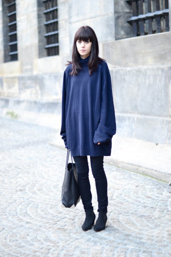 How To Wear Navy Blue Sweater