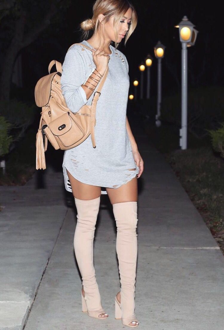 How To Wear Open Toe Knee Hight Boots