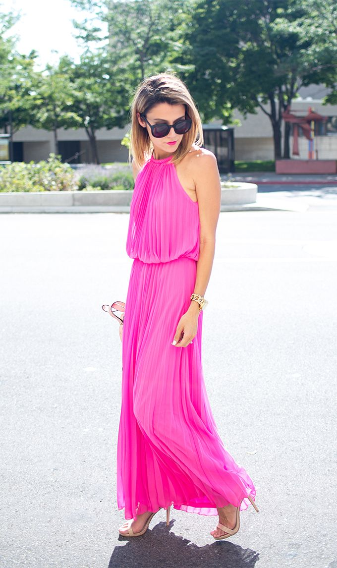 How To Wear Pink Maxi Dress