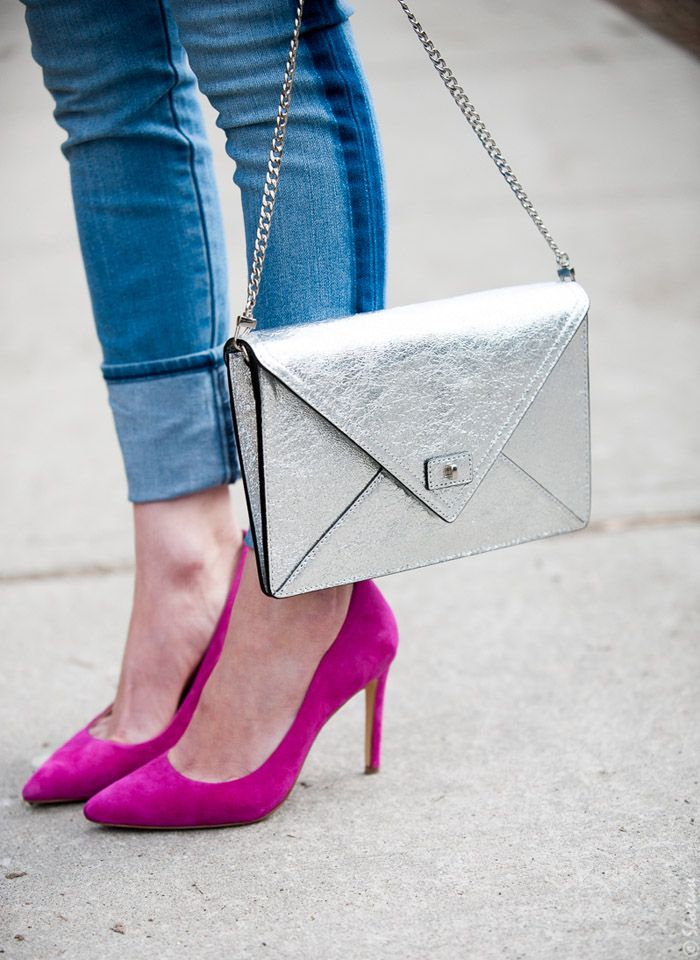 How To Wear Pink Pointed Toe Pumps