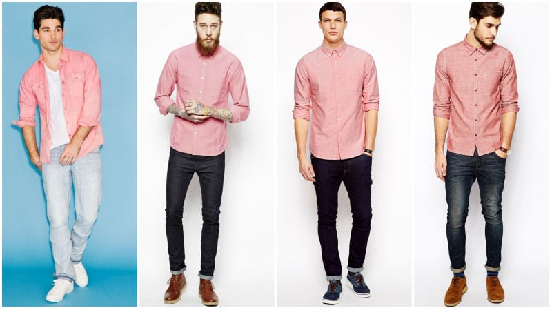 How To Wear Pink Shirt