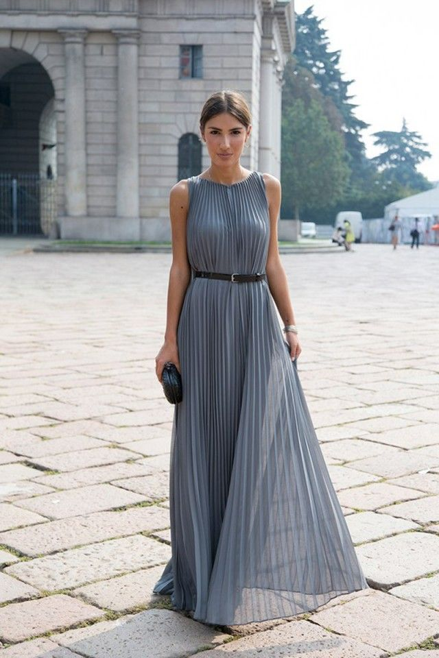 How To Wear Pleated Maxi Dress