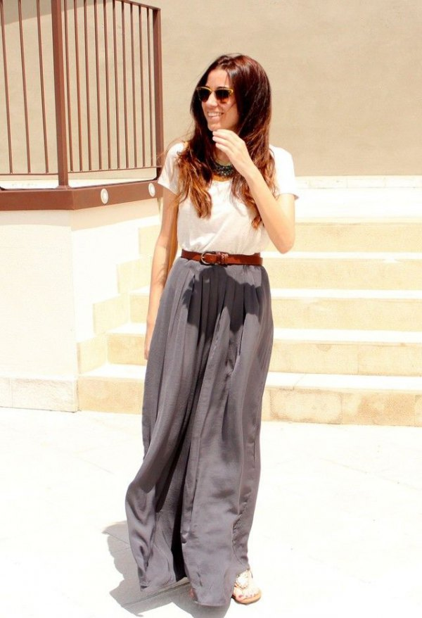 How To Wear Pleated Palazzo Pants