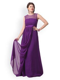 How To Wear Purple Maxi Dress
