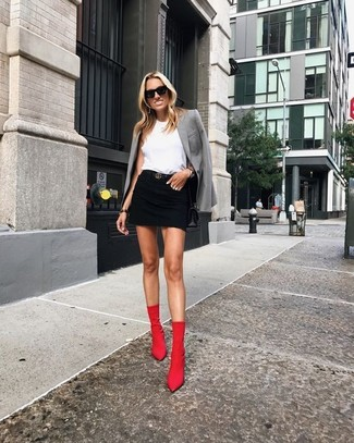 How To Wear Red Ankle Boots
