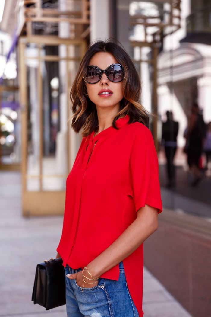 How To Wear Red Blouse