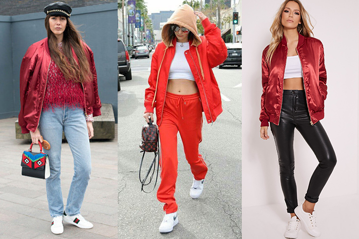 How To Wear Red Bomber Jacket