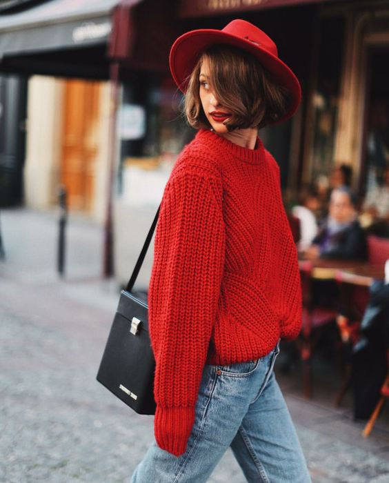 How To Wear Red Jumper