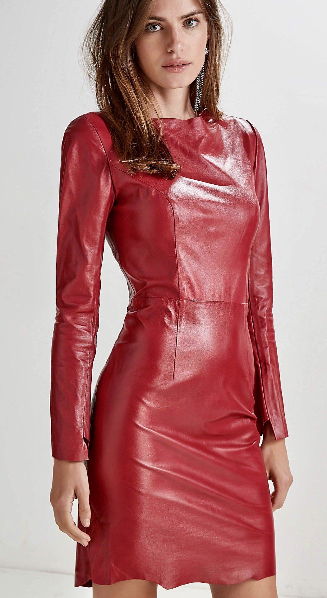 How To Wear Red Leather Dress