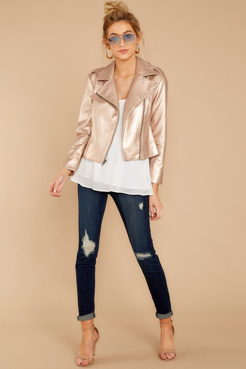 How To Wear Rose Gold Jacket
