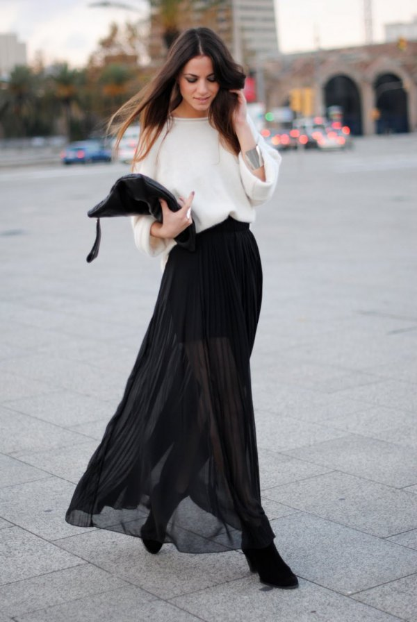 How To Wear Sheer Maxi Skirts