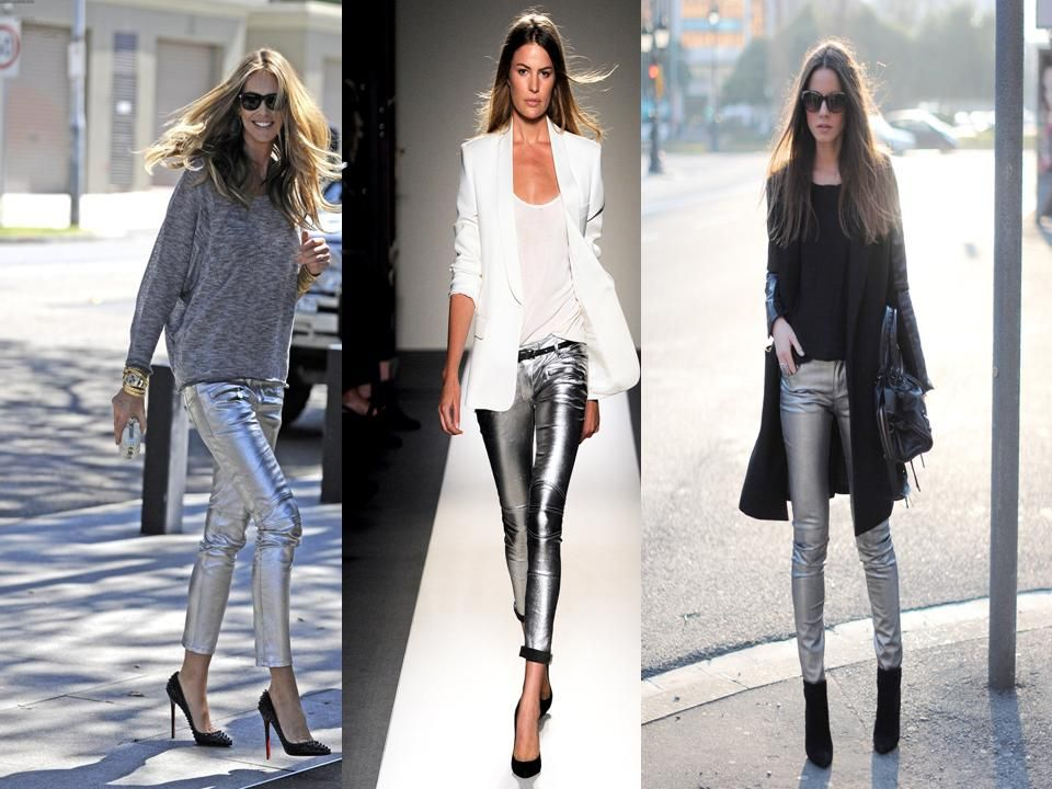 How To Wear Silver Pants