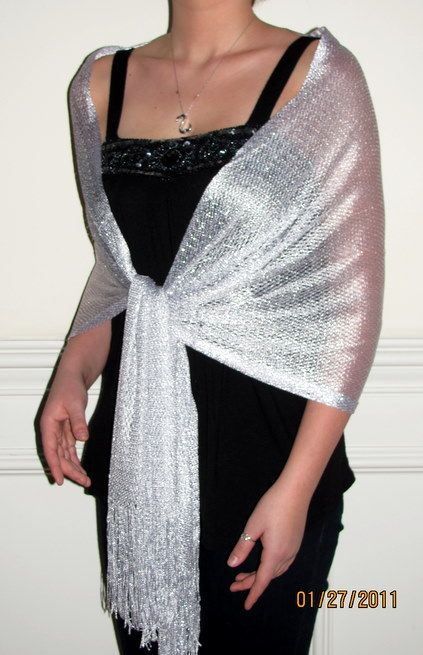 How To Wear Silver Shawl
