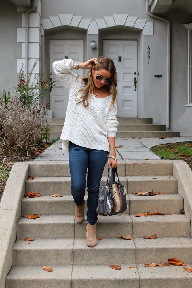 How To Wear Slouchy Sweater