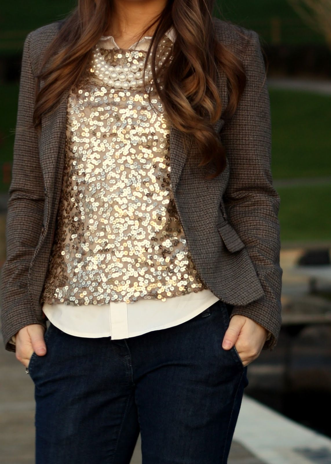 How To Wear Sparkly Shirt
