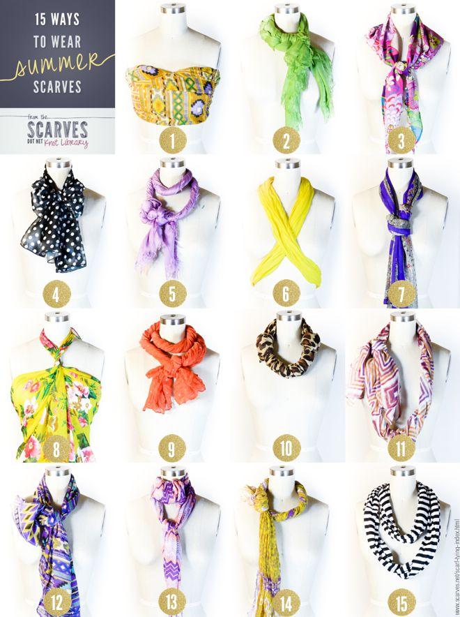 How To Wear Summer Scarf