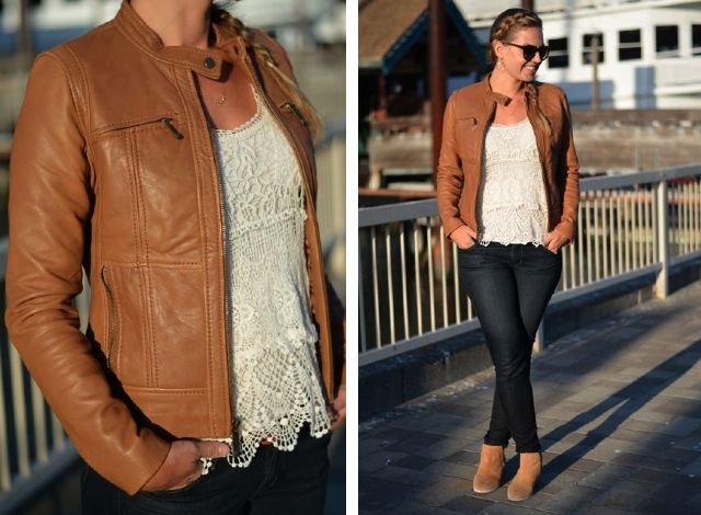 How To Wear Tan Leather Jacket