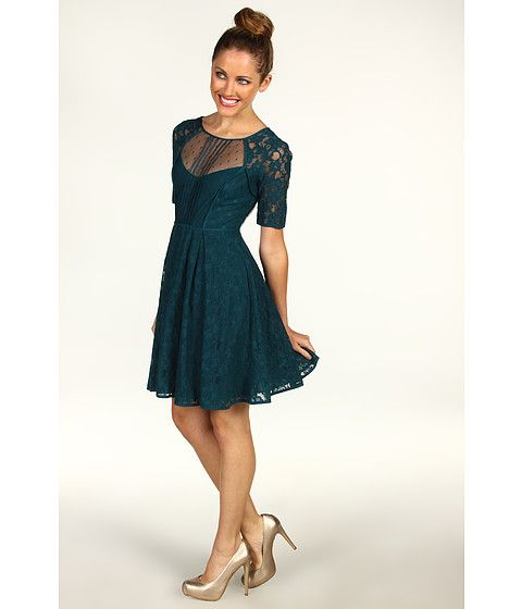 How To Wear Teal Cocktail Dress
