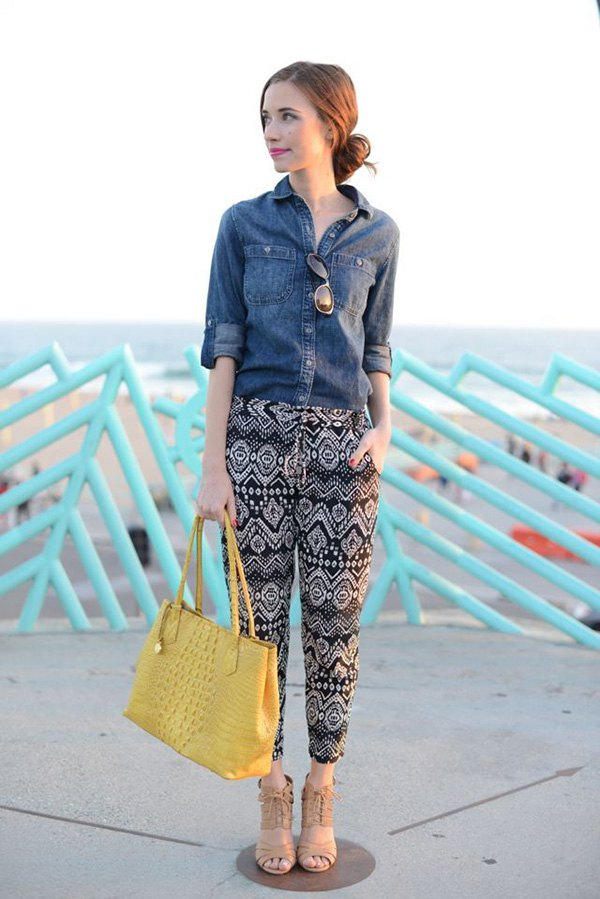 How To Wear Tribal Printed Pants