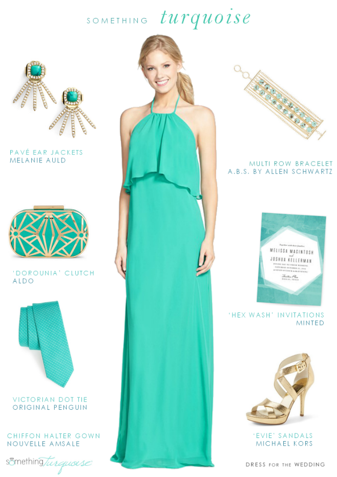 How To Wear Turquoise Dress