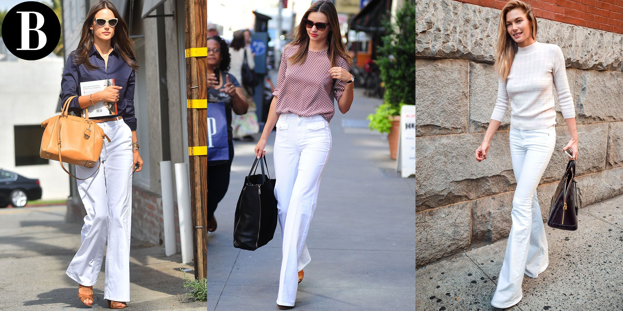 How To Wear White Bell Bottom Jeans