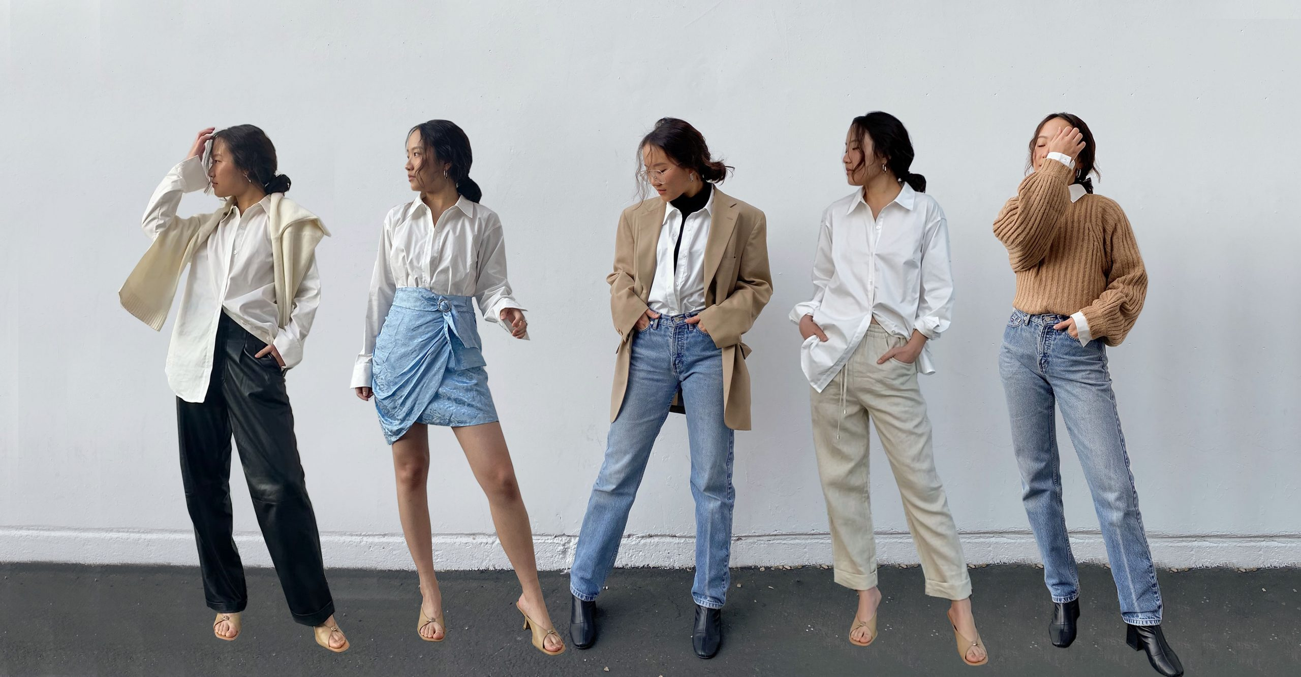 How To Wear White Button Up Shirt