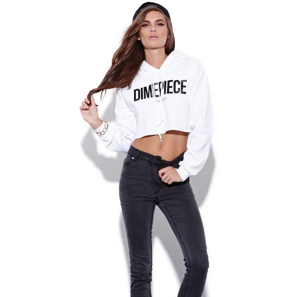 How To Wear White Cropped Hoodie
