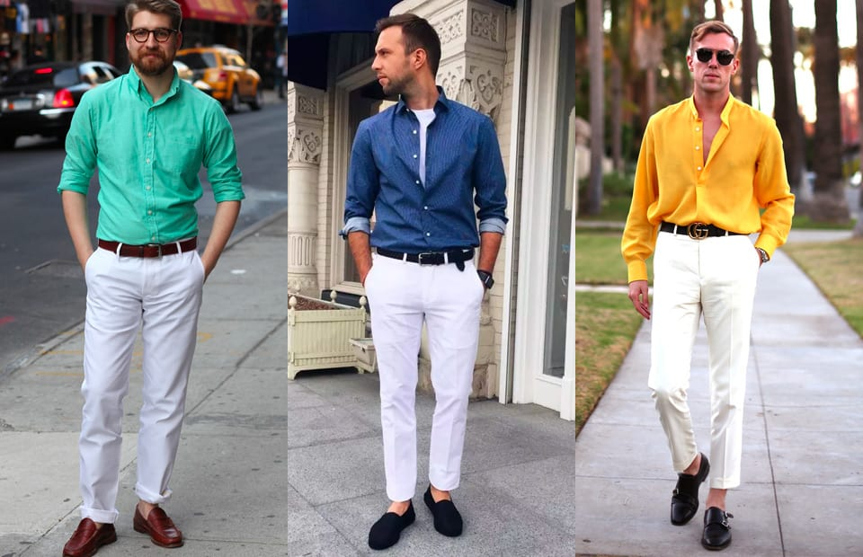 How To Wear White Dress Pants