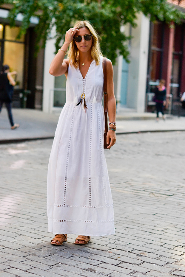 How To Wear White Maxi Dress