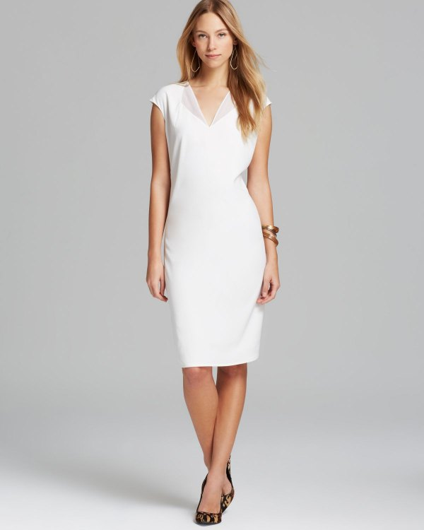 How To Wear White V Neck Dress