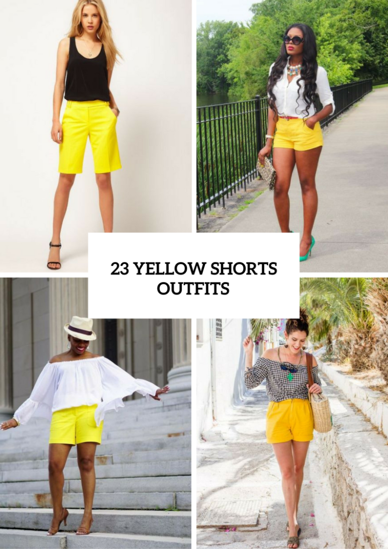 How To Wear Yellow Shorts
