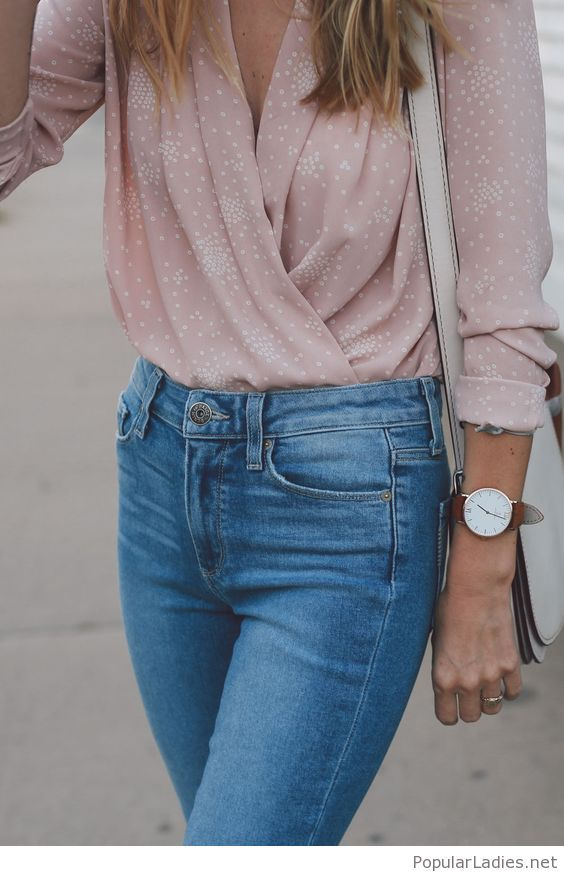 Light Pink Blouse Outfit Ideas
