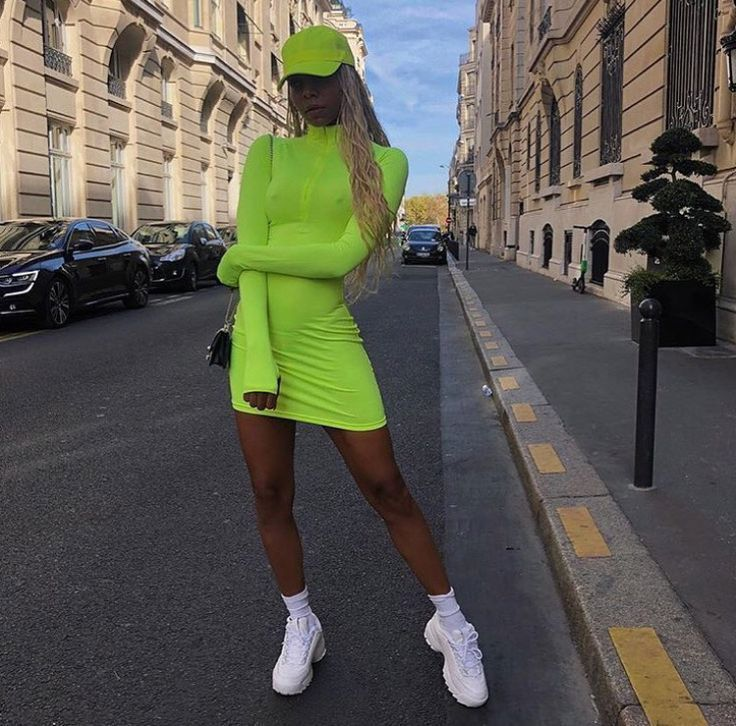 Lime Green Dress Outfit Ideas