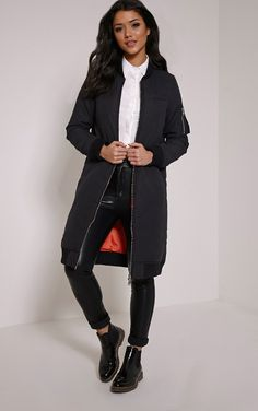 Long Bomber Jacket Outfit Ideas