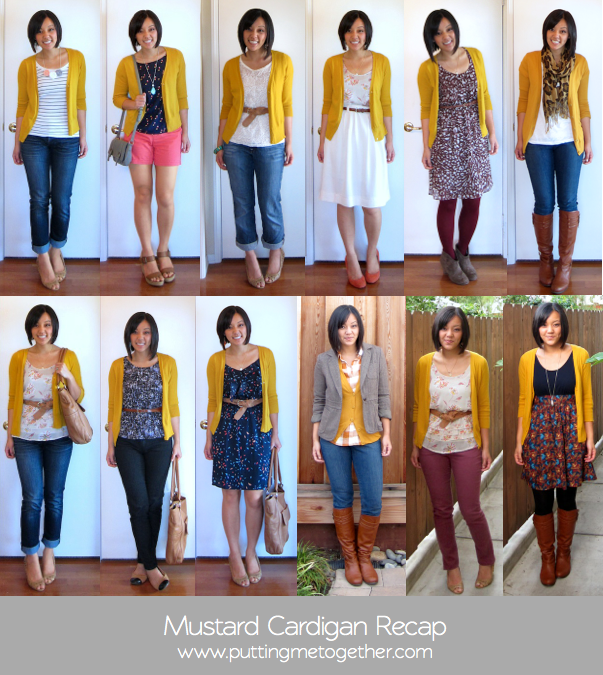 Mustard Yellow Cardigan Outfit Ideas